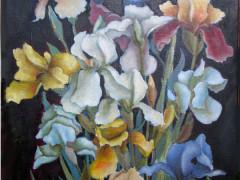 Букет ірисів,70Х50,2010,п,олія - копия