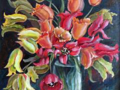 """Букет з тюльпанами"",50х60,п.олія,2011"