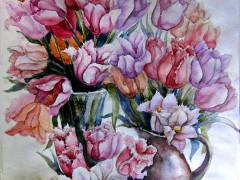 Натюрморт-з-тюльпанами