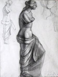 Zeichnung_Skulptur_Michelangelo_Venera_60x80cm