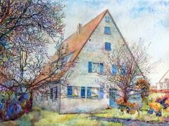 (DE) Haus bei Nürnberg Aquarell