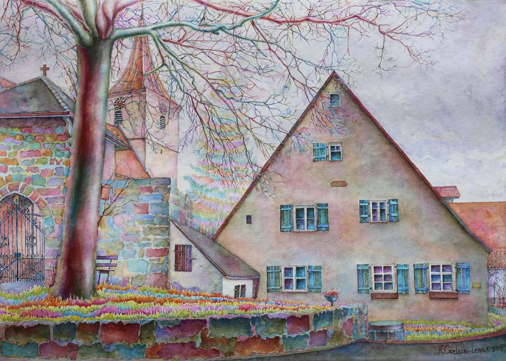 Kateryna art en watercolor de aquarell ua for Architektur aquarell