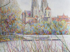 Blick_zum_Dom_Regensburg_38x56cm_Aquarell