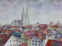 überRegensburg_Aquarell_37x63cm